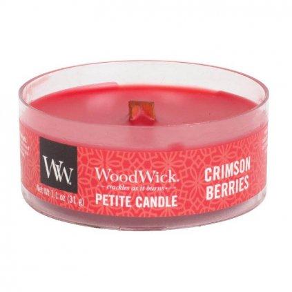 WoodWick - vonná svíčka Petite, Crimson Berries (Červená jeřabina) 31g
