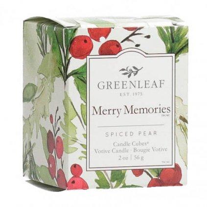 Greenleaf - votivní svíčka Merry Memories 56g