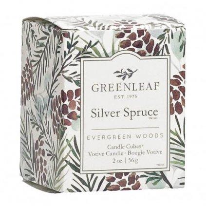 Greenleaf - votivní svíčka Silver Spruce 56g