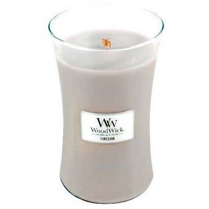 WoodWick - vonná svíčka Fireside (Oheň v krbu) 609g