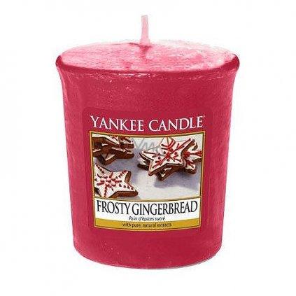 Yankee Candle - votivní svíčka Frosty Gingerbread 49g