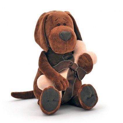 Orange TOYS - plyšový pes Cookie s kostí, 25 cm