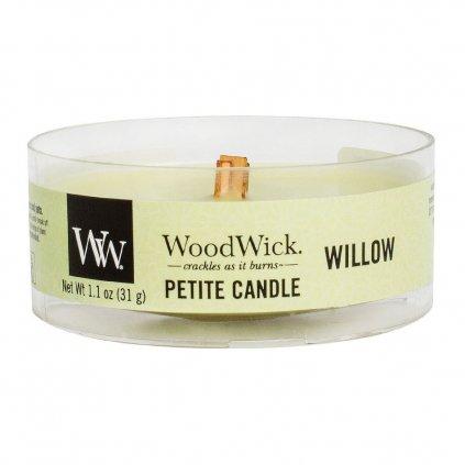 WoodWick - vonná svíčka Petite, Willow (Vrbové květy) 31g