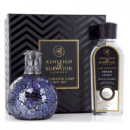 Ashleigh & Burwood - katalytická lampa All Because s náplní Fresh Linen, dárková sada