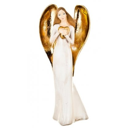 Anděl se srdcem, 24 cm
