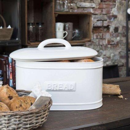 Ib Laursen - chlebník porcelánový ovál Pure White