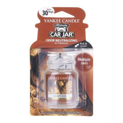 Yankee Candle - gelová visačka do auta Leather (Kůže) 1 ks