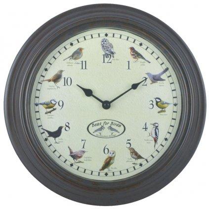 Esschert Design - hodiny s ptačím zpěvem  29