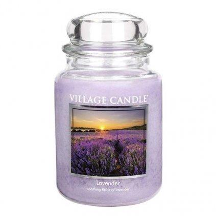 Village Candle - vonná svíčka Levandule 737g