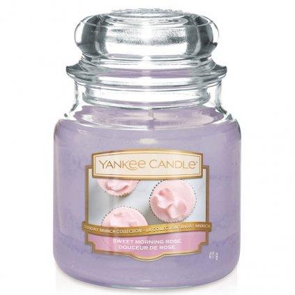 Yankee Candle - vonná svíčka Sweet Morning Rose 411g