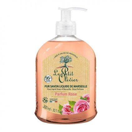 Le Petit Olivier - přírodní tekuté mýdlo Růže 300 ml