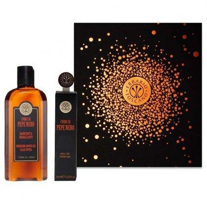 Erbario Toscano - pánská dárková sada Černý pepř, sprchový gel + parfém