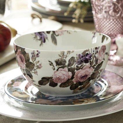 Katie Alice - porcelánová miska Wild Apricity, šedá 15 cm