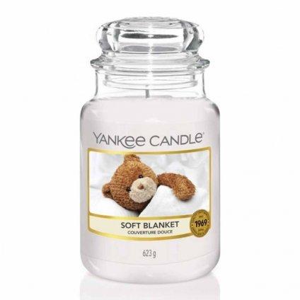 Yankee Candle - vonná svíčka Soft Blanket (Jemná přikrývka) 623g