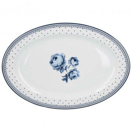 Katie Alice - servírovací porcelánový talíř Vintage Indigo
