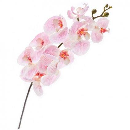 Umělá květina, orchidej růžová 1 ks