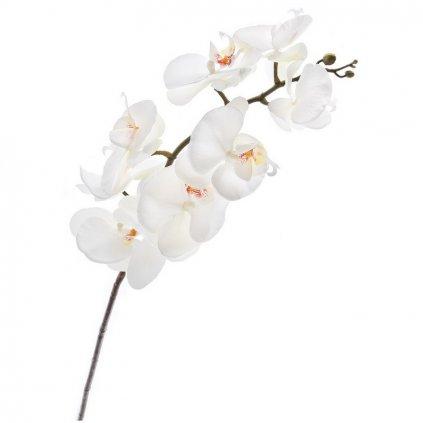 Umělá květina, orchidej bílá 1 ks