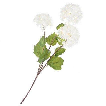 Umělá květina, květ bílý 1 ks