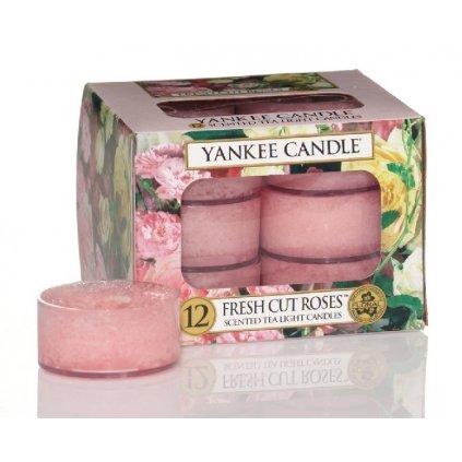 Yankee Candle - čajové svíčky Fresh Cut Roses 12ks