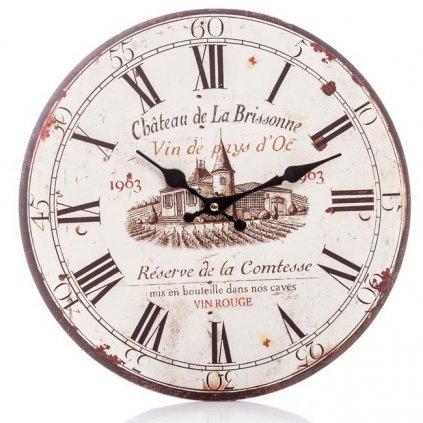 Nástěnné hodiny Chateau, 34 cm