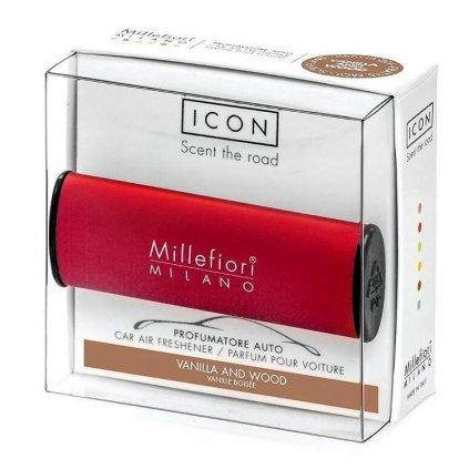 Millefiori Milano - ICON vůně do auta Vanilla & Wood 47g