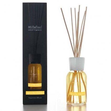 Millefiori Milano - aroma difuzér Legni & Fiori D'arancio, Natural 250 ml