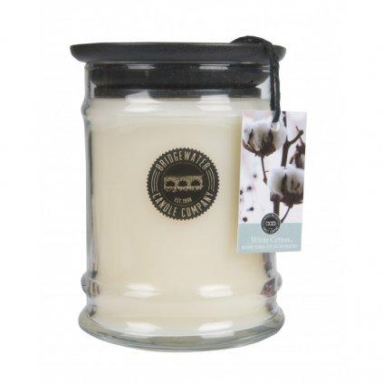 Bridgewater - vonná svíčka White Cotton, malá 250g