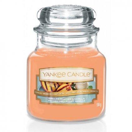 Yankee Candle - vonná svíčka Grilled Peaches & Vanilla (Grilované broskve a vanilka) 104g
