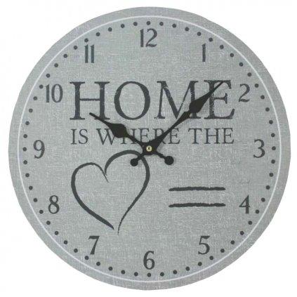 Nástěnné hodiny Home, 34 cm