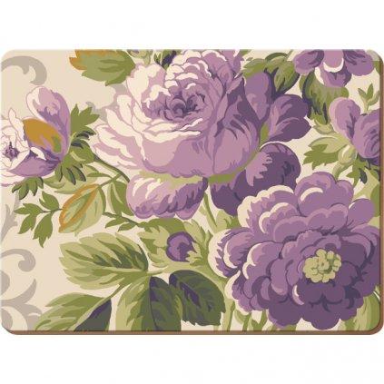 Creative Tops - korkové prostírání Purple Floral 40x29 cm, 2 ks