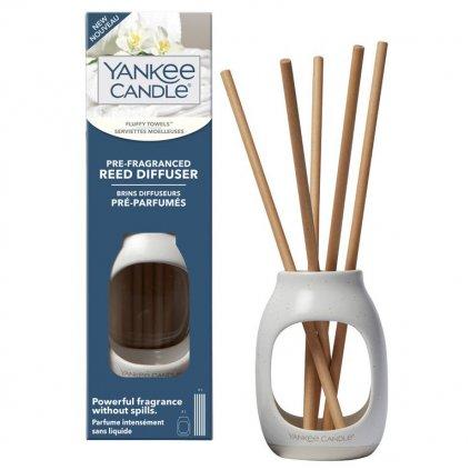 Yankee Candle - pre-fragranced aroma difuzér Fluffy Towels (Nadýchané osušky)