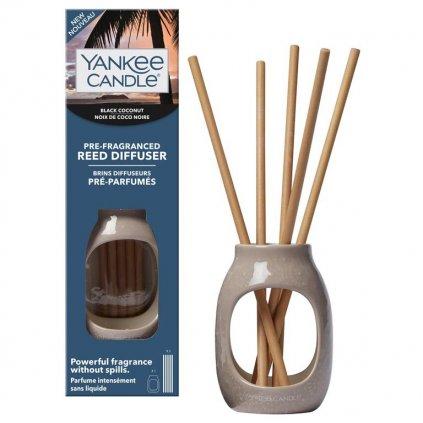 Yankee Candle - pre-fragranced aroma difuzér Black Coconut (Černý kokos)
