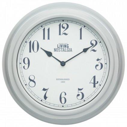 Kitchen Craft - hodiny Living Nostalgia, šedé 25 cm