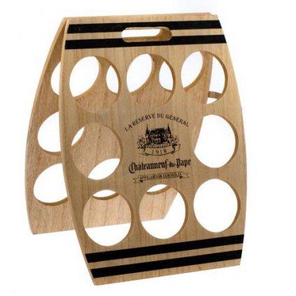 Casa de Engel - dřevěný stojan na víno na 8 lahví