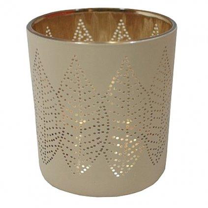 Svícen listy na svíčku, výška 9,5 cm