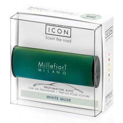 Millefiori Milano - ICON vůně do auta White Musk 47g
