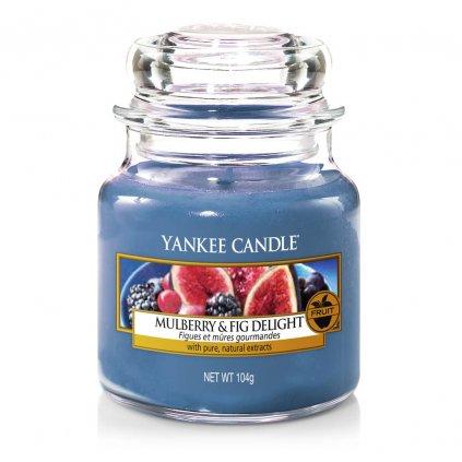 Yankee Candle - vonná svíčka Mulberry & Fig Delight (Lahodné moruše a fíky) 104g