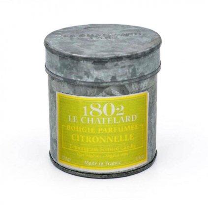 Le Chatelard - vonná svíčka Citronová tráva 100g