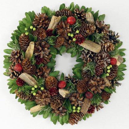 Věnec vánoční dekorační, 35 cm