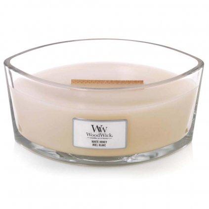 WoodWick - vonná svíčka White Honey (Bílý med) 453g