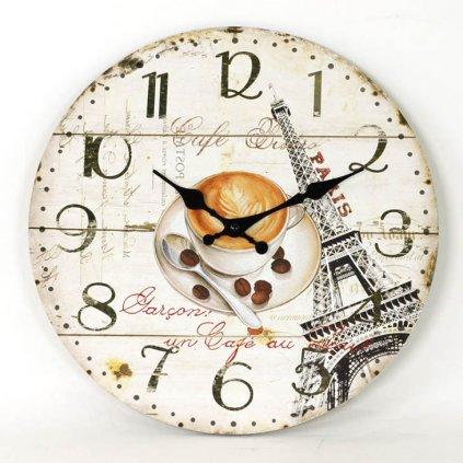 Nástěnné hodiny Café Bistro, 34 cm