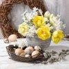 Ubrousky Velikonoční květy 33x33 cm, 20 ks
