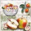 Ubrousky Koš jablek 33x33 cm, 20 ks