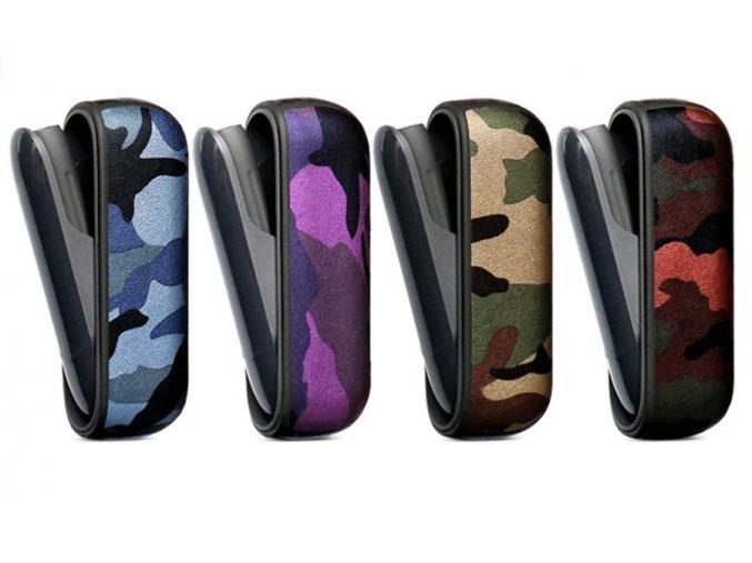 Kožený obal imitace army IQOS 3 DUO