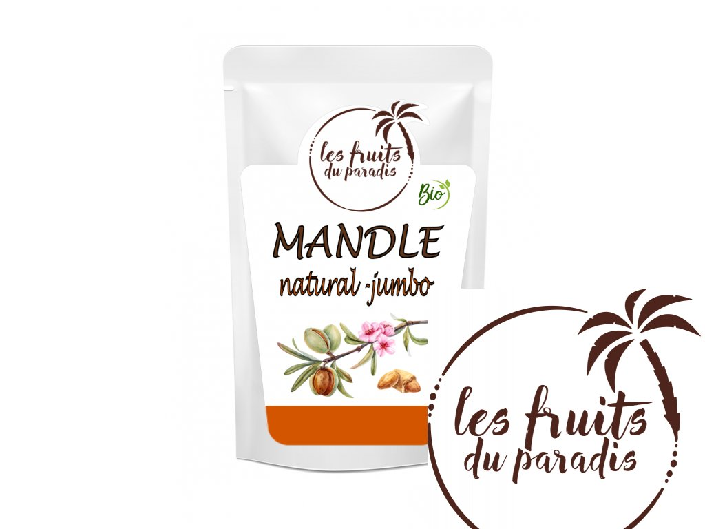 Mandle natural jumbo Bio sacek