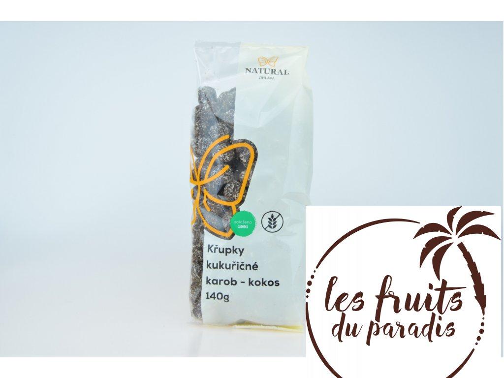Křupky kukuřičné karobové s kokosem 140g Natural
