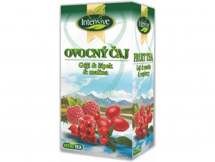 Intensive Goji-Šípek-Malina ovocný porcovaný 40g Vitto Tea