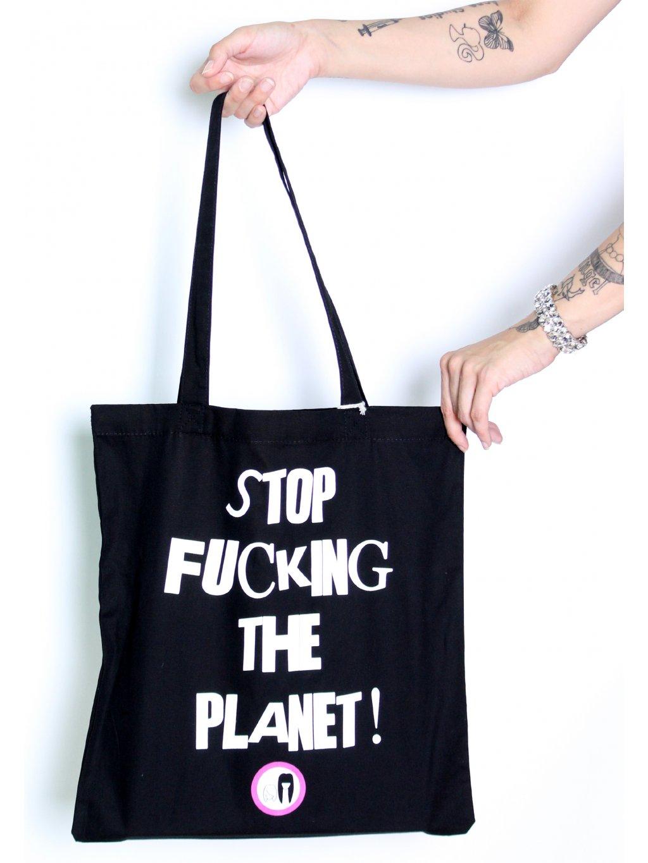 Crashily stop fucking the planet plátěná taška
