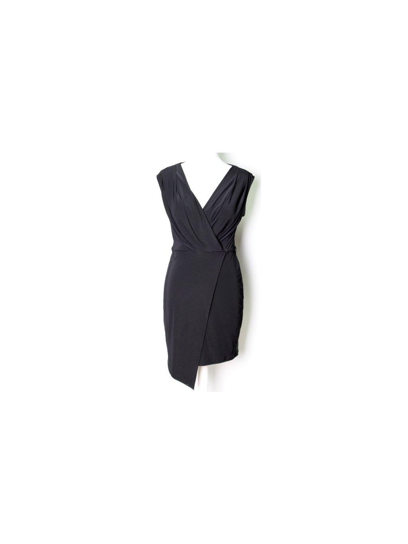 černé office šaty