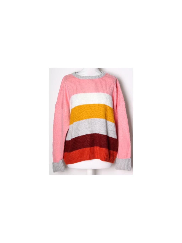 pruhovaný barevný svetr